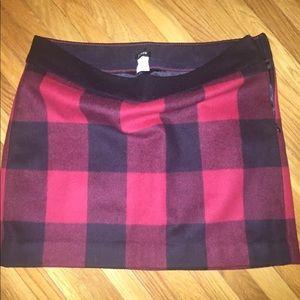 J. Crew Buffalo Check Jcrew Skirt